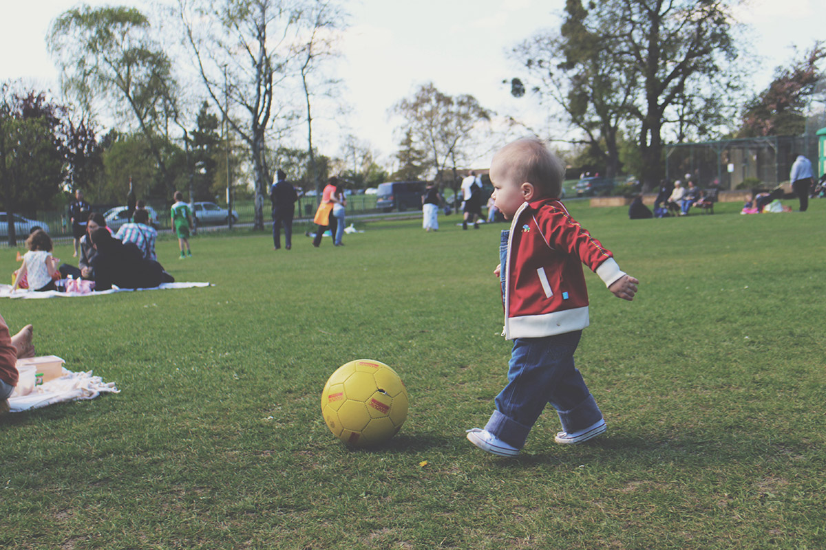 Picture Vomit - My Favourite Photos Of The Month; Toddler playing football at the park