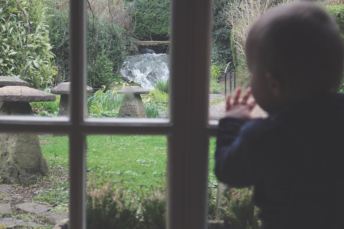 Picture Vomit - My Favourite Photos Of The Month; Toddler looking out of the window at Great Nanny's waterfall