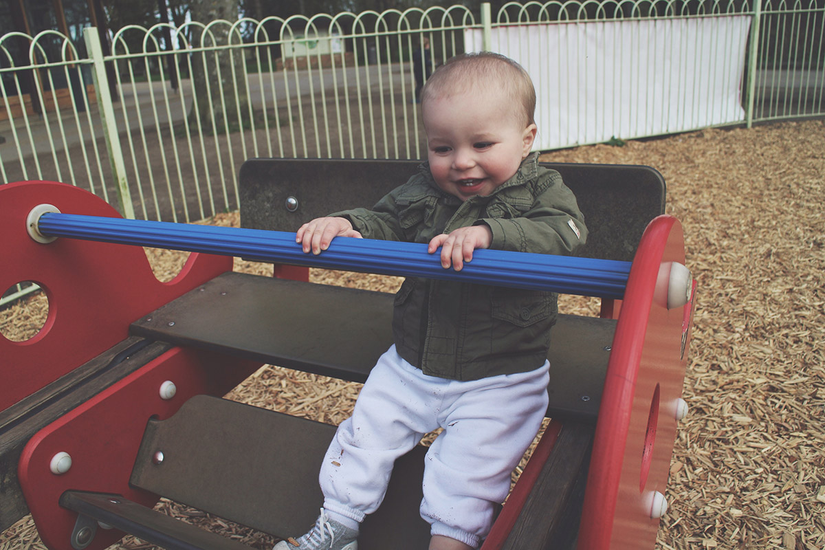 Picture Vomit - My Favourite Photos Of The Month; Toddler laughing and playing at the park