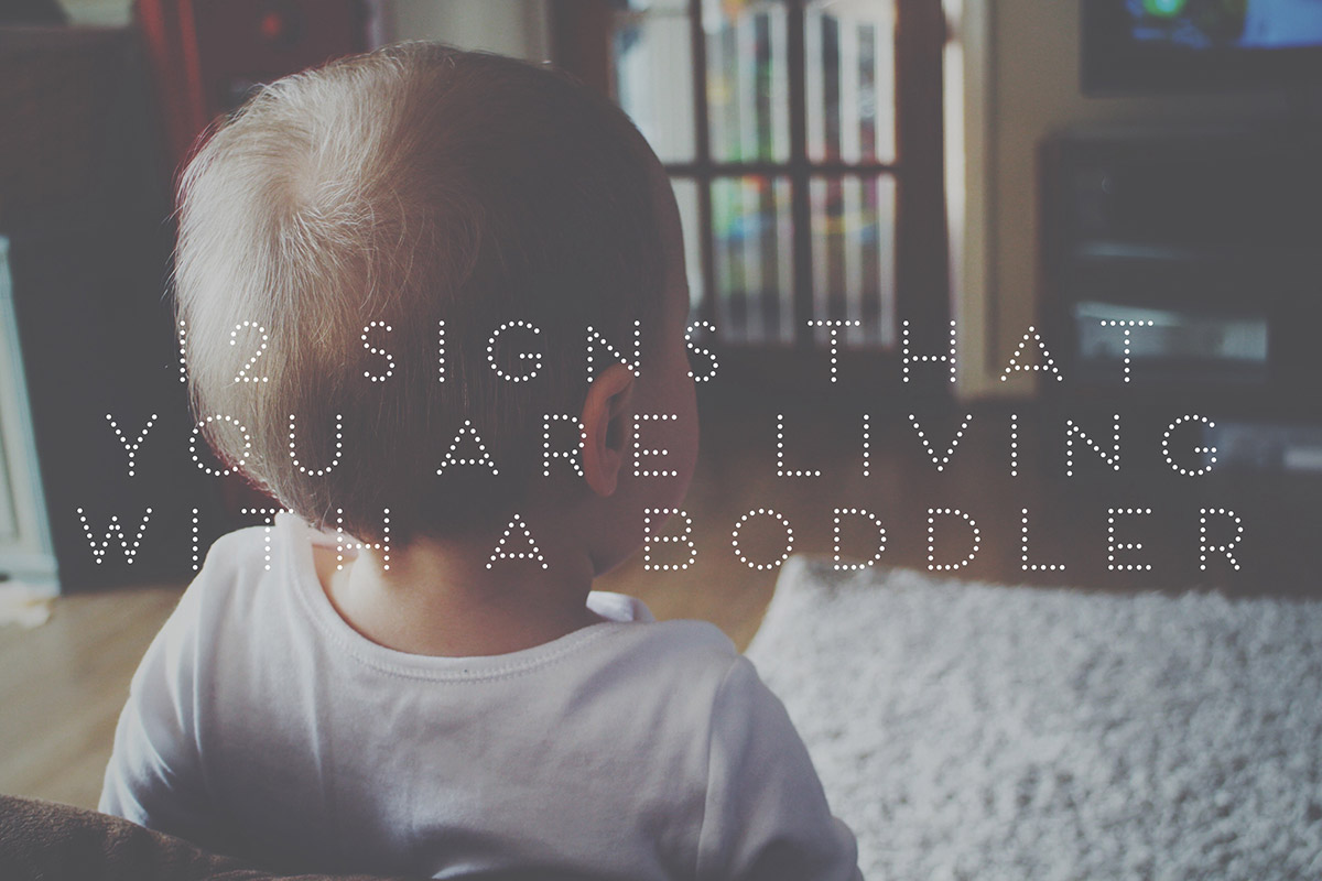 12 Signs That You Are Living With a Boddler