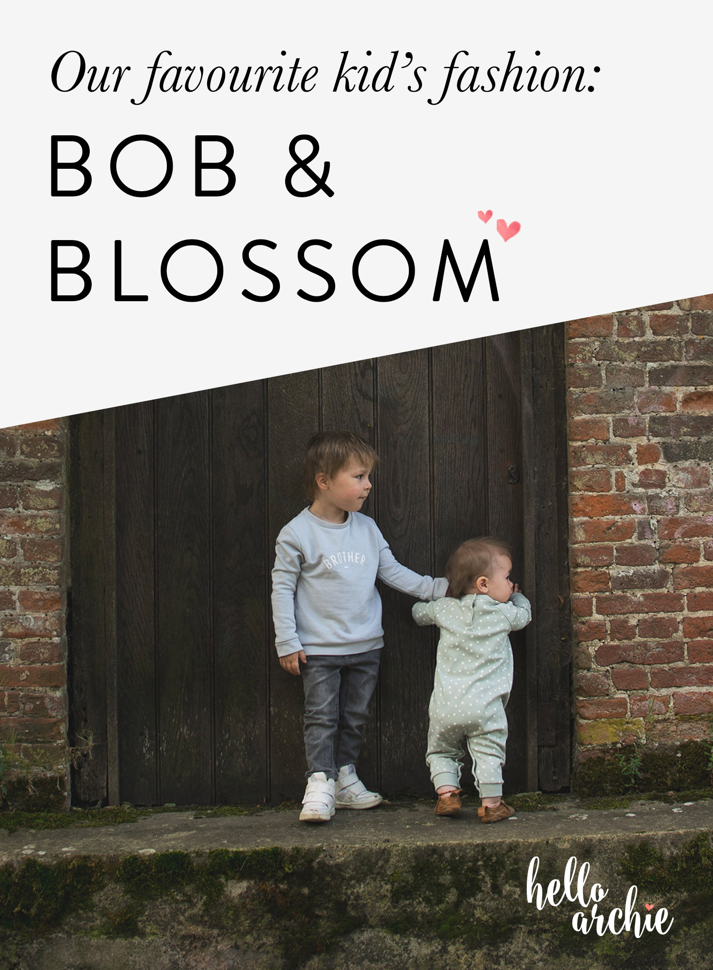 Two young boys wearing gorgeous Bob and Blossom brother sweatshirt and dotted romper and Easy Peasy slip-on leather pirate shoes whilst expolring the park in Autumn, Kid's fashion