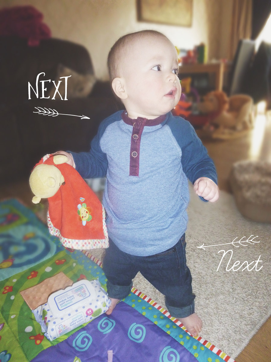 Baby Archie wearing Next top & jeans