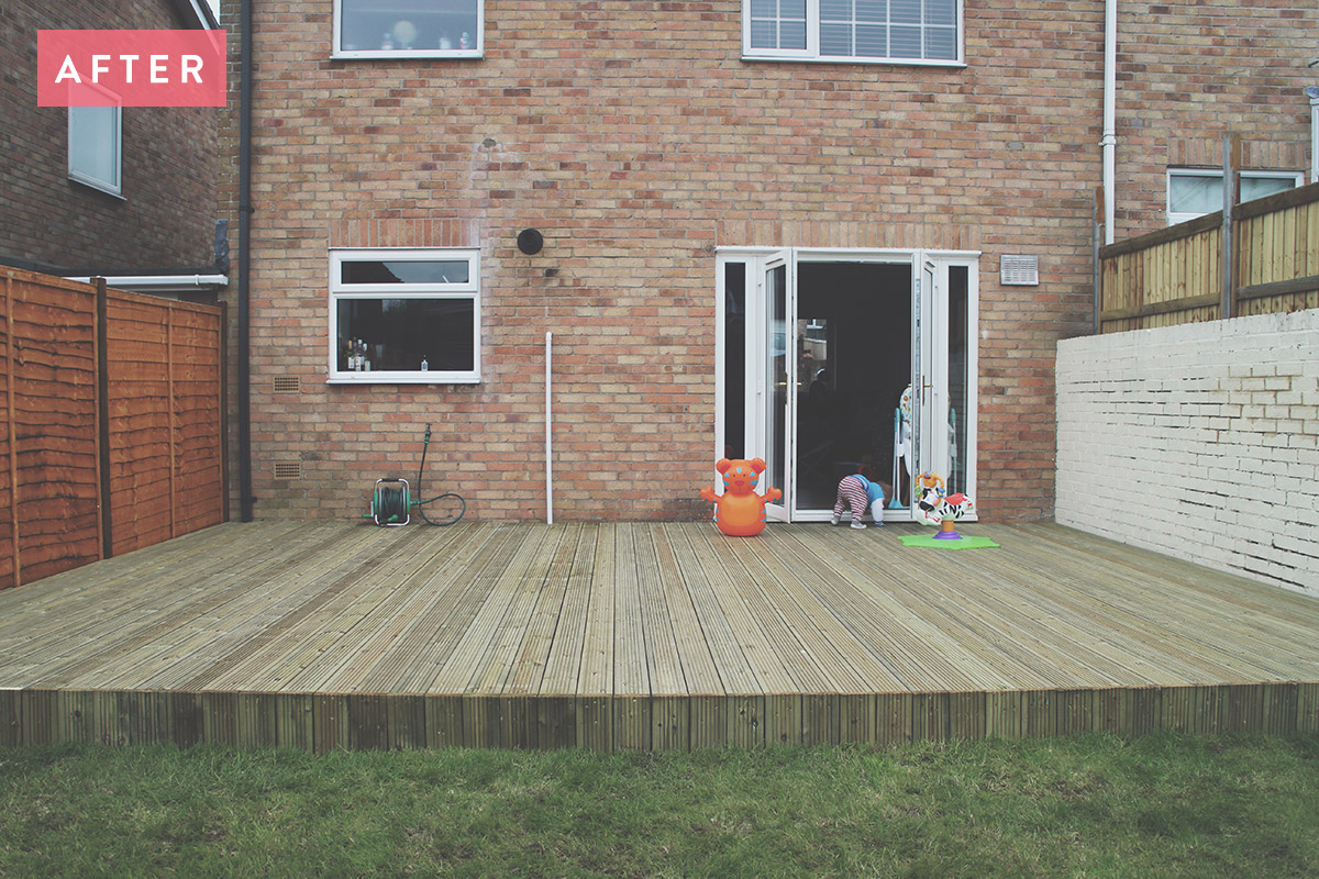 Fashion Friday #17: Builders in to re-create garden decking and fence