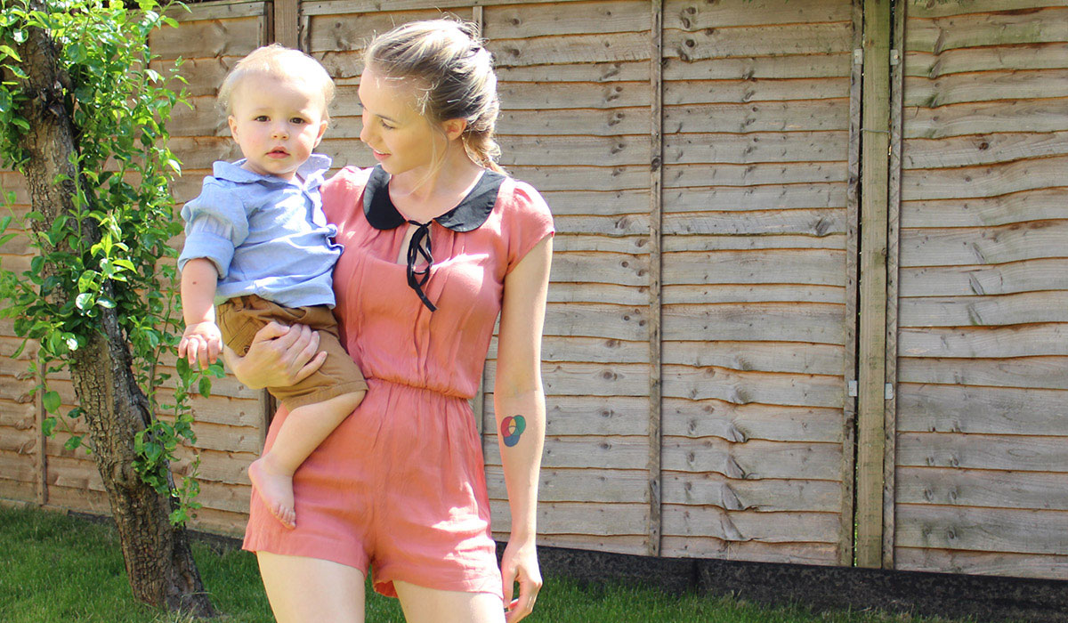 Fashion Friday // 025; He Talks To The Rainbows - Toddler and Mummy playing in the garden wearing NExt, H&M and Miss Selfridges playsuit, shorts and shirt