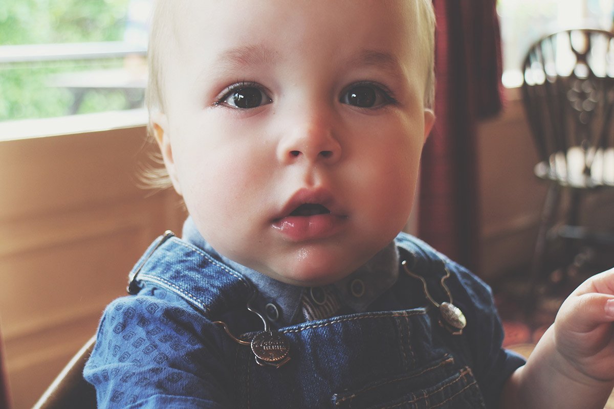 Fashion Friday #18: Toddler wearing Next dungarees and George top close-up