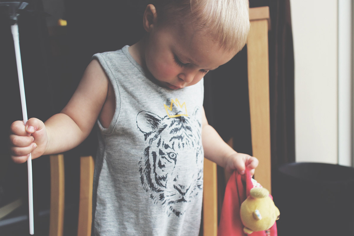 Fashion Friday; I Am Toddler, Hear Me Roar // 032 - Toddler wearing Baby Gap Tiger 'Hear Me Roar' Short Romper