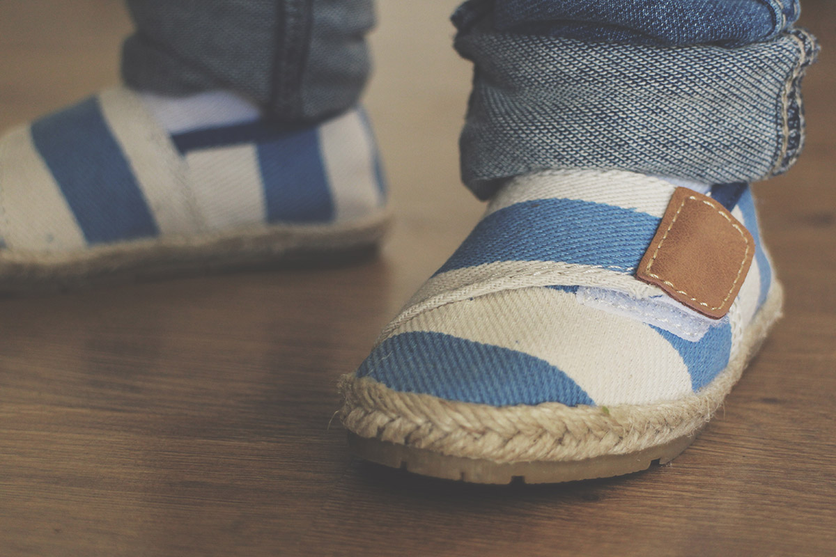 Fashion Friday #18: Toddler wearing Next stripy espadrille shoes