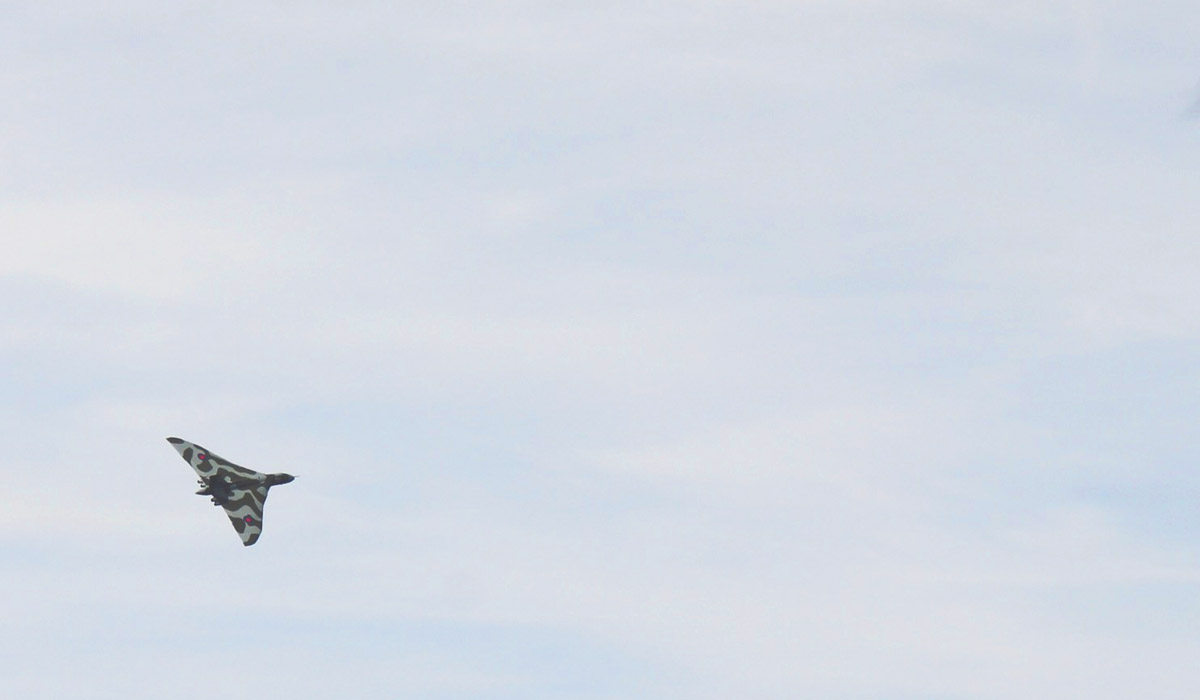 Toddlers' Day Out @ RAF Fairford Air Tattoo - Retiring Falcon on display at the RAF Fairford Air Tattoo