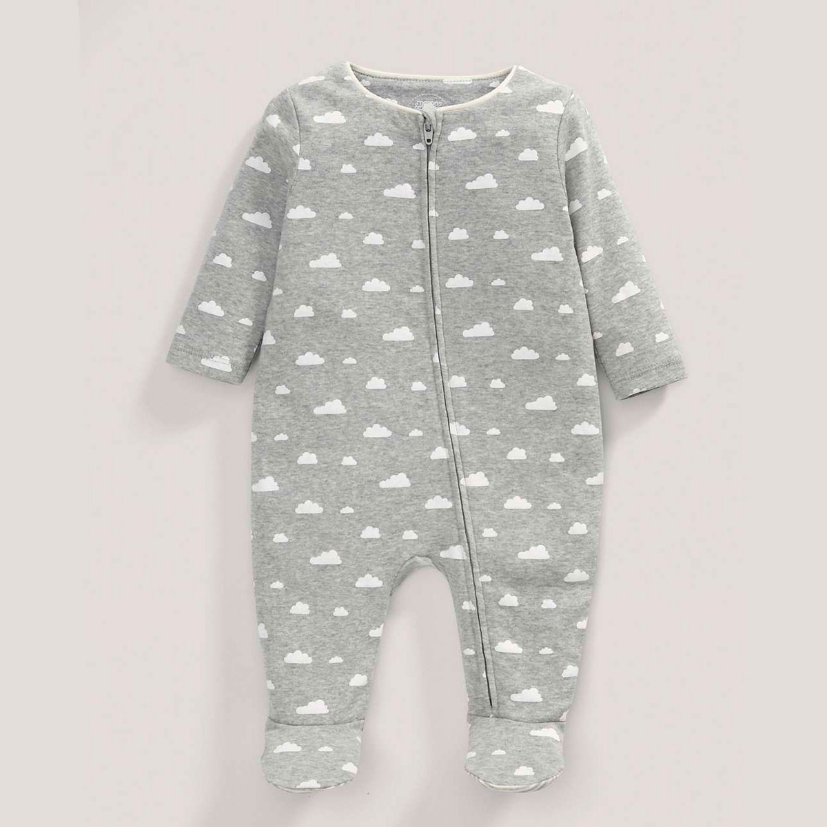 Mamas & Papas cloud grey sleepsuit unisex for newborns