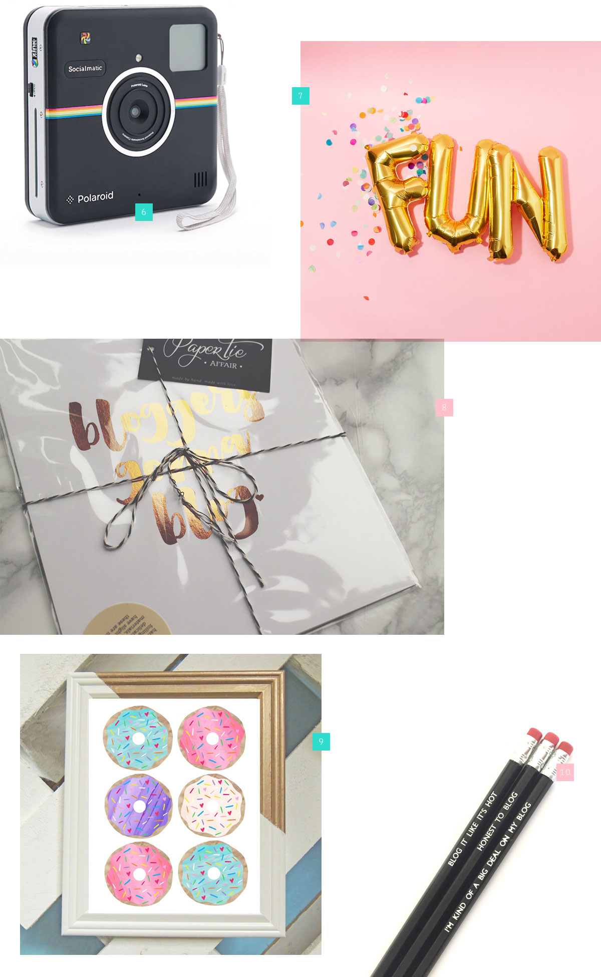 10 Gifts for the Blogger in Your Life - Products from ban.do, Urban Outfitters and Brika