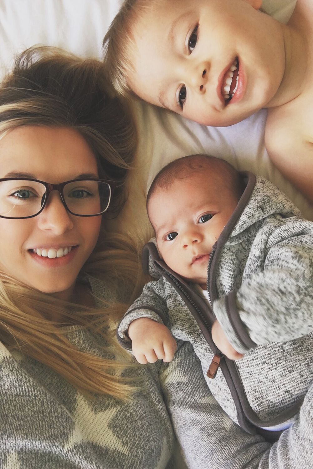 Baby Jesse Blue at 3 months old - Newborn baby boy with Mummy and brother selfie