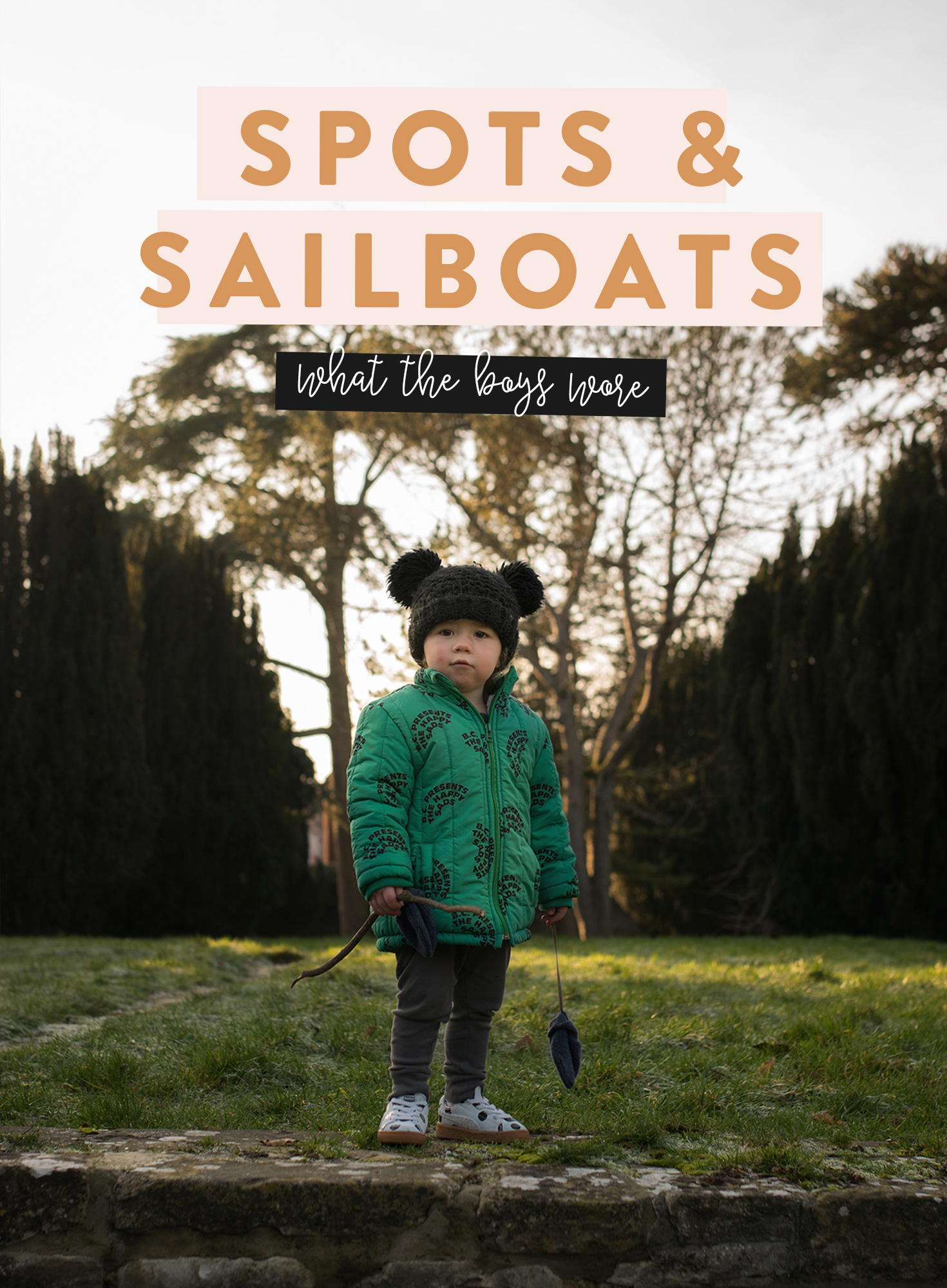 Winter is usually my least favourite season for taking photos, but we've been making up for the dull days with spotty shoes and sailboat knits.