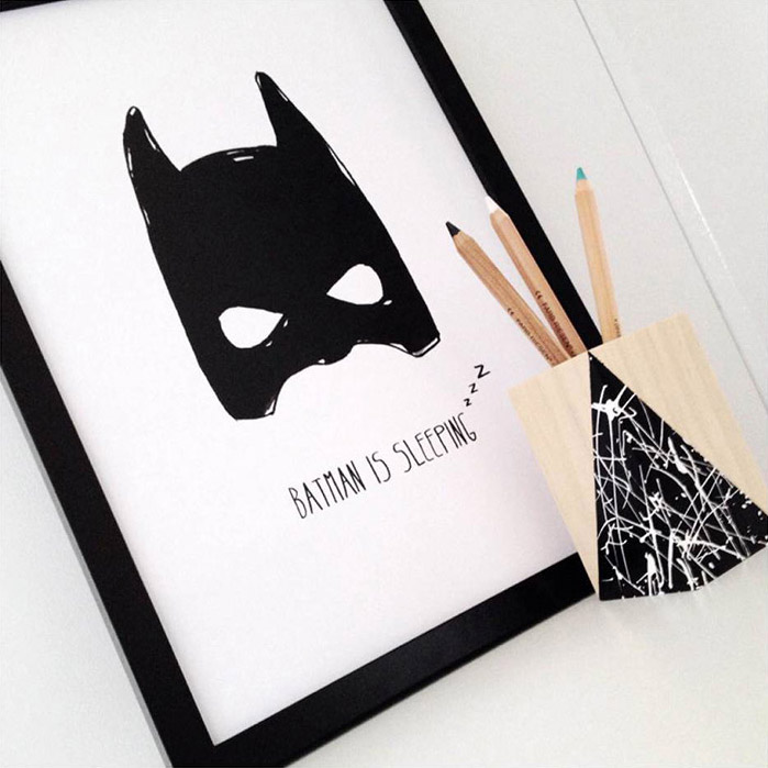 'Batman is Sleeping' Print - Mitahli Designs