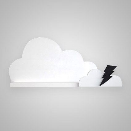 Cloud Shelf with Lightning Bolt - Mitahli Designs