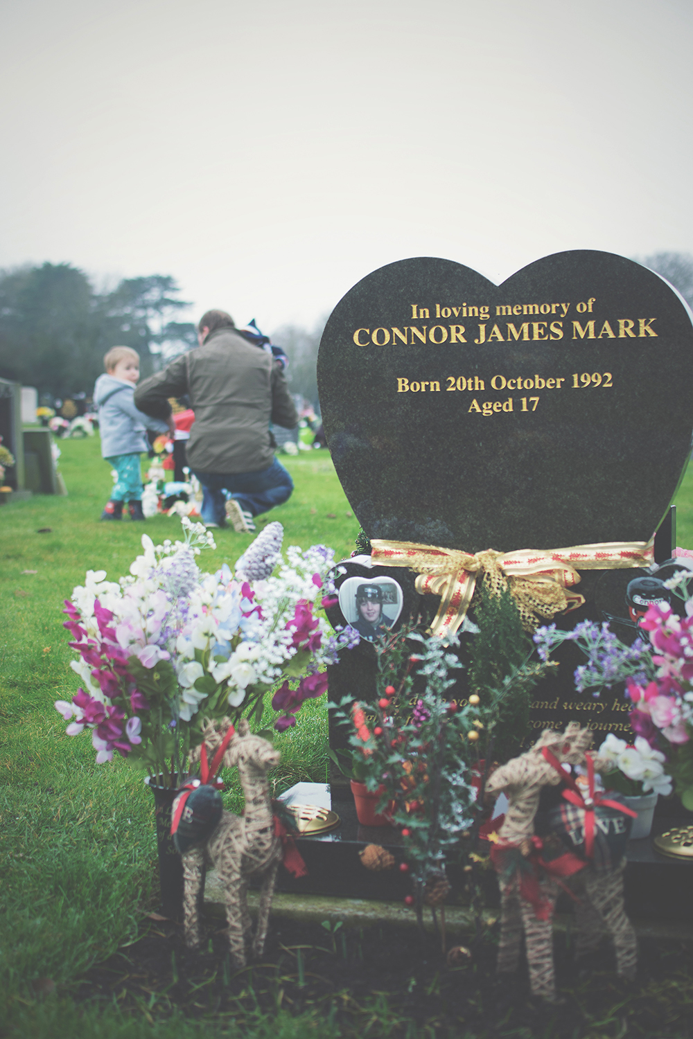 Another year gone, Brother. - Discussion around subjects of loss, grief and death of a loved one with Autism and learning difficulties from SADS, toddler nephew and family visiting grave at the cemetery for Christmas
