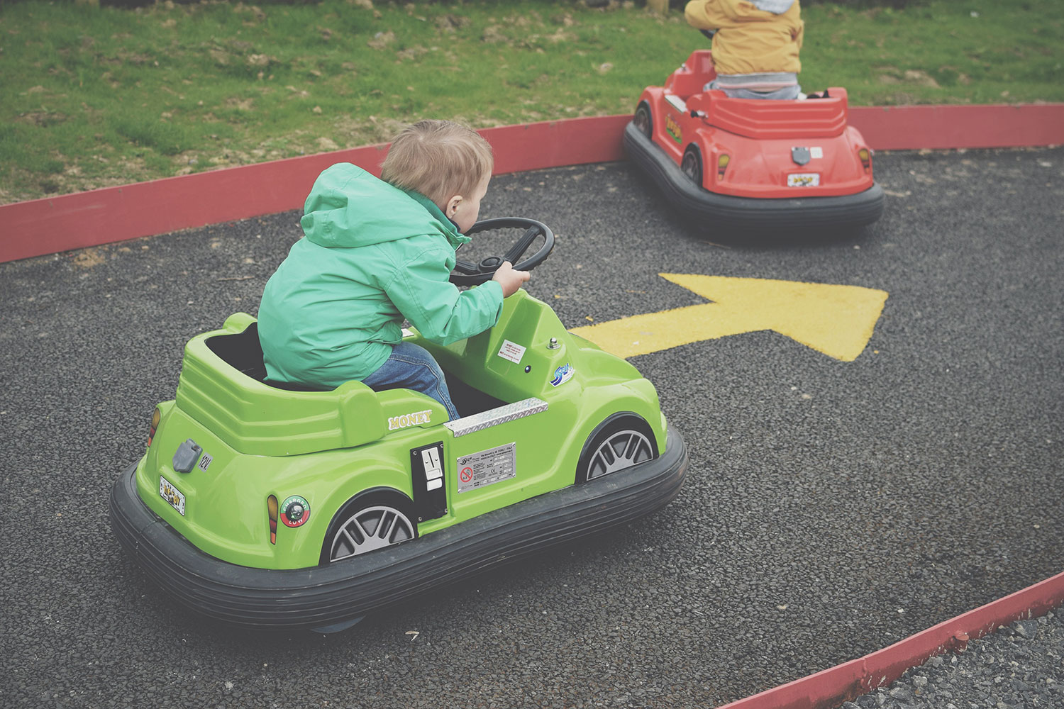 Rawr or Nawr? A Day Out at the Dinosaur Adventure Park, Tenby, Pembrokeshire, Wales - Toddler driving the mini racing cars