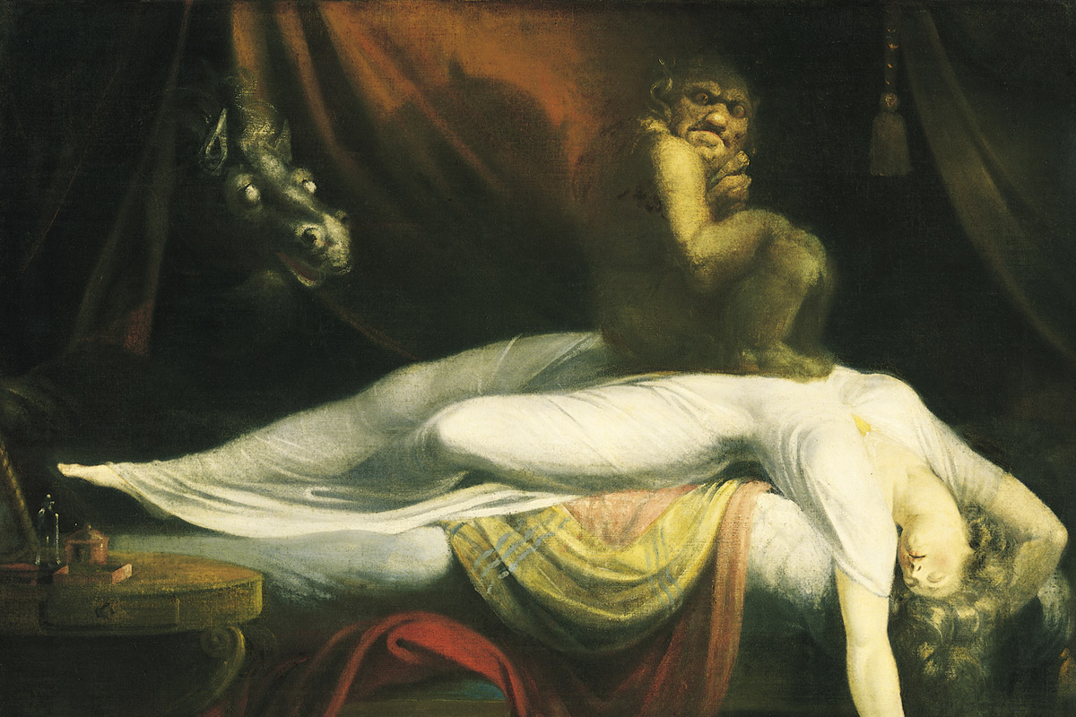'The Nightmare' painting of the demon sleep paralysis by Henry Fuseli