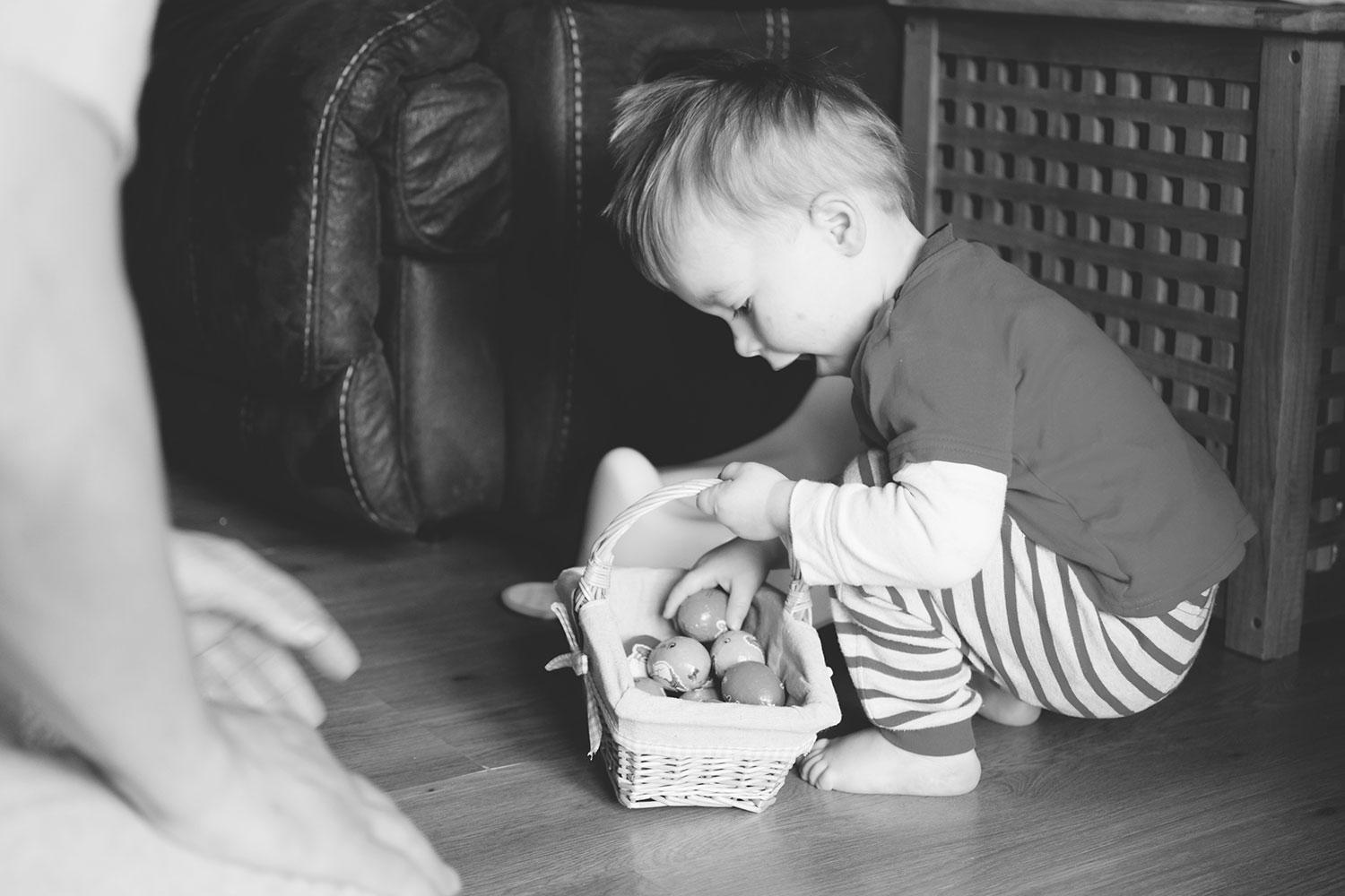 Easter 2016; Let there be chocolate.. Or is that poop? - Toddler eating chocolate eggs after Easter egg hunt on bank holiday with Dad
