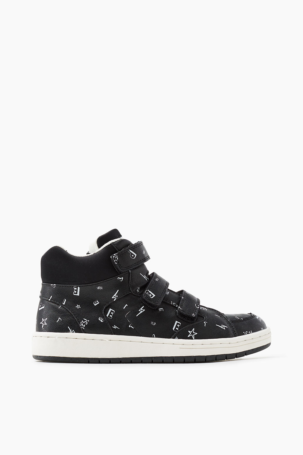 Faux leather high-top trainers from Esprit