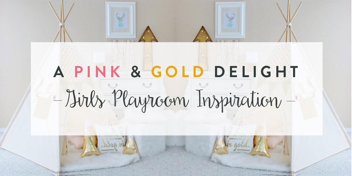Children S And Kids Room Ideas Designs Inspiration: Girls Pink & Gold Playroom Inspiration