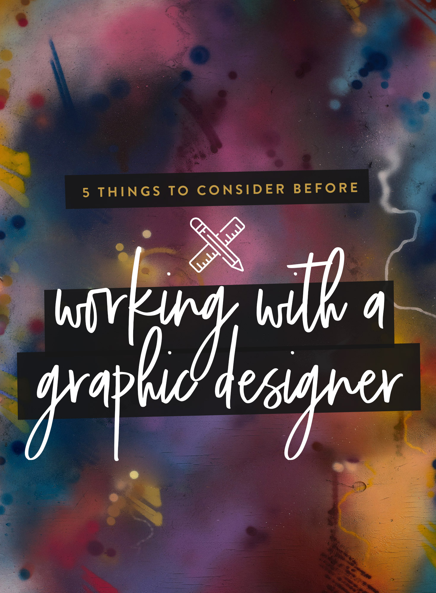The majority of clients I've worked with haven't worked with a designer before and aren't sure of where to begin in their hunt for one. I wanted to discuss a few things that are great to do before you decide to work with a graphic designer, things that will help you to gain what you want from the relationship and that will make your designers life a lot easier in the long run, meaning an all-round smoother experience and working partnership.