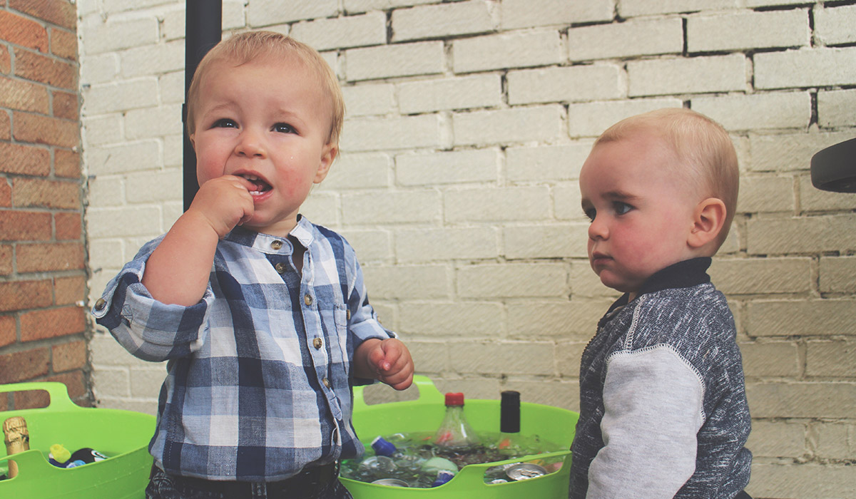5 Steps to Pulling Off a Successful British BBQ - Naughty toddlers hanging around the drink ice buckets