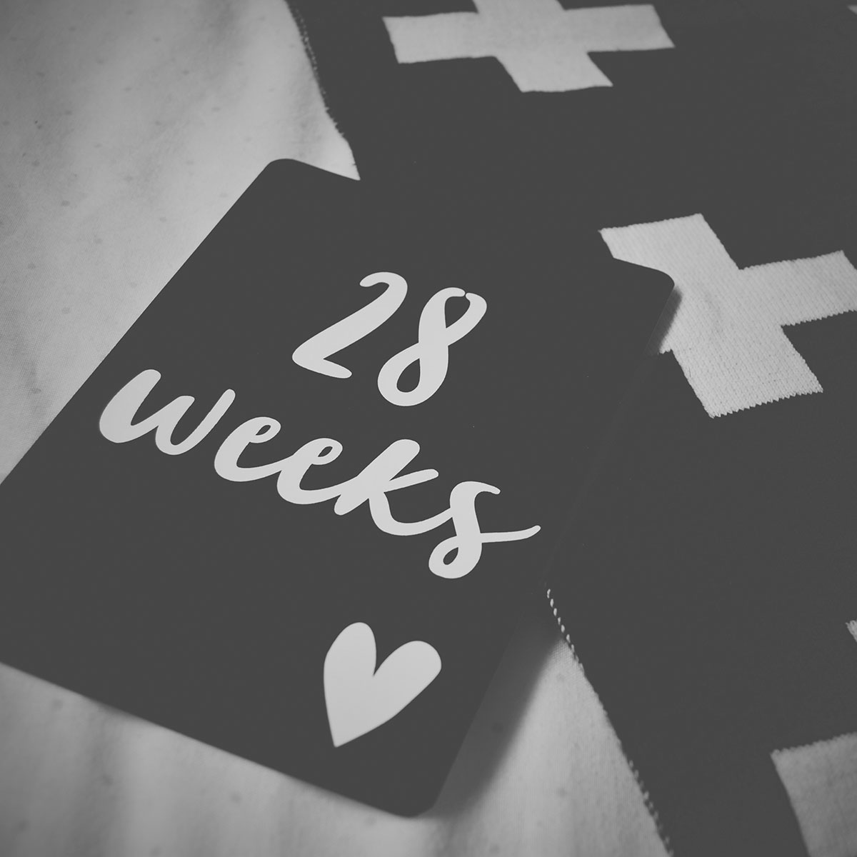 Our month in insta-snaps; May 2016 - Leni and Co pregnancy milestone monochrome cards and cross blanket for pregnancy update, 28 weeks in third trimester