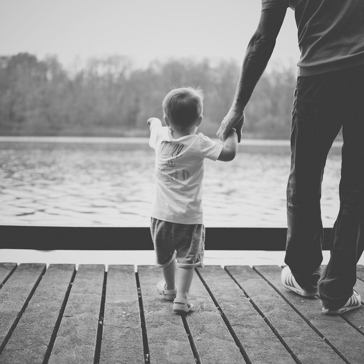 Our month in insta-snaps; May 2016 - Toddler and Grandad holding hands at the local lake park on a sunny day