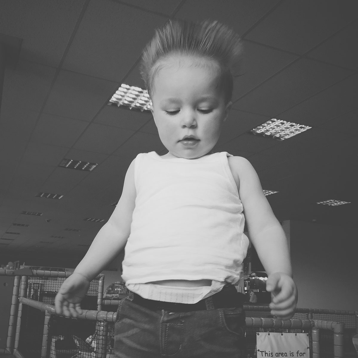 Our month in insta-snaps; May 2016 - Toddler playing at softplay with the wind machine