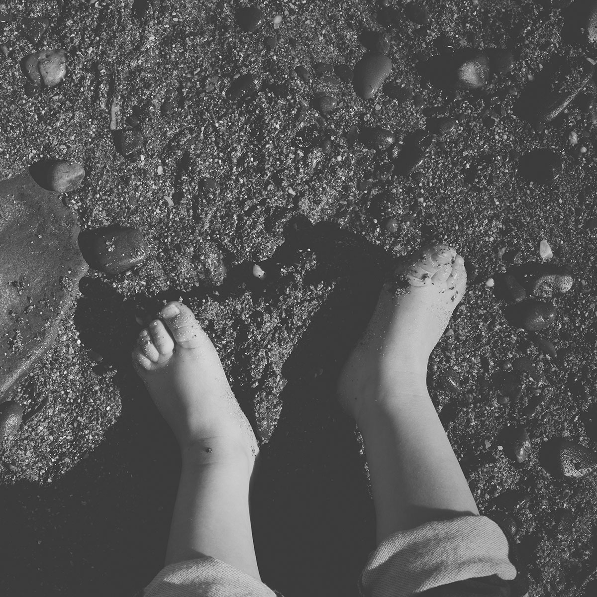 Our month in insta-snaps; May 2016 - Toddler bare feet on pebble beach on holiday in South Wales