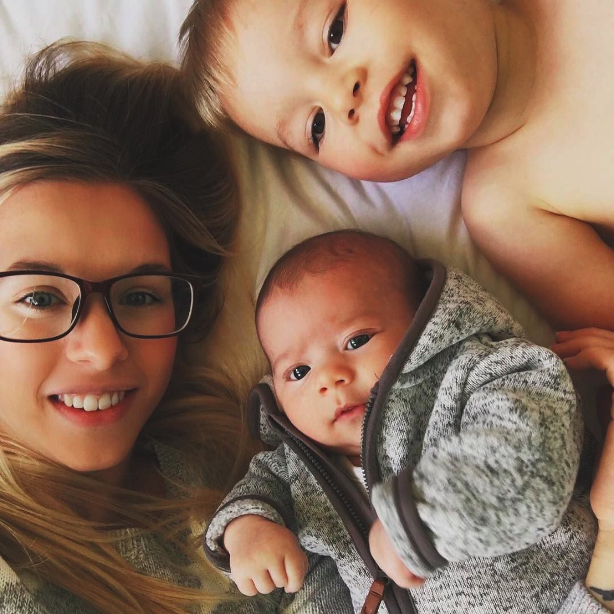 Our month in insta-snaps; October 2016 - Selfie of mother and her two sons, baby and toddler