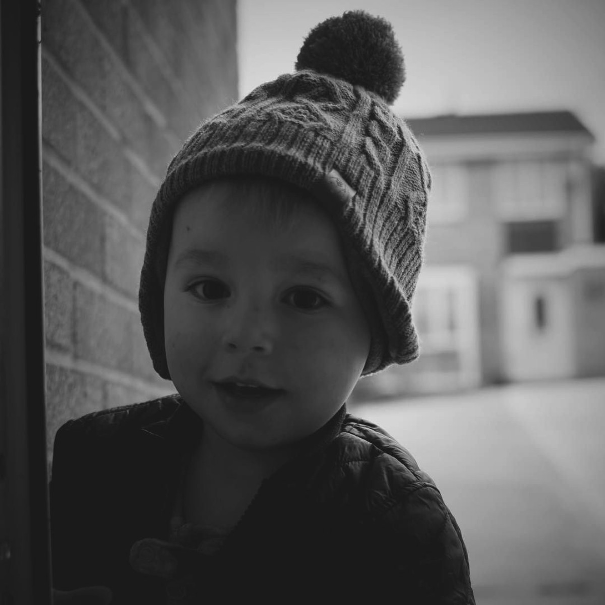 Our month in insta-snaps; October 2016 - Young toddler boy wearing H&M bobble hat