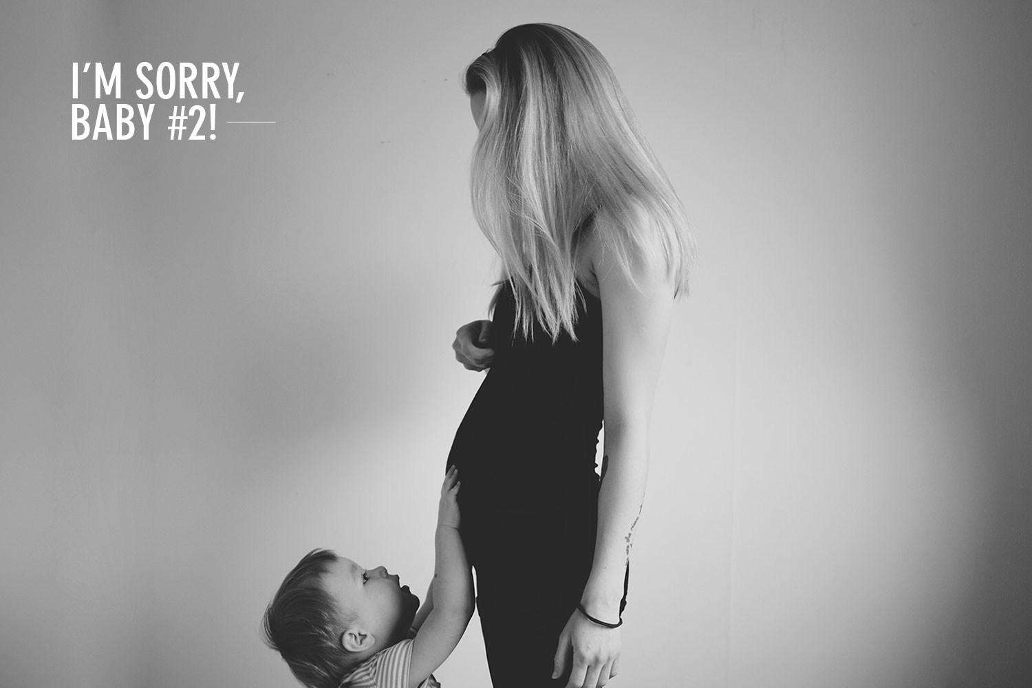 I'm sorry, baby #2! - An apology from your Mummy
