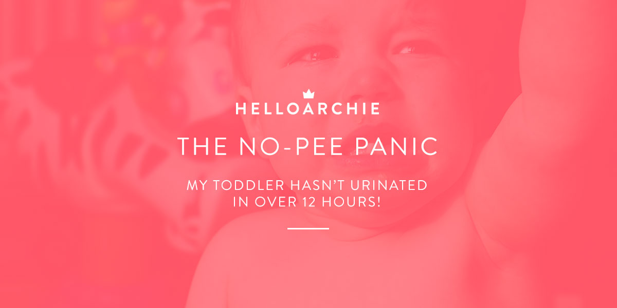 The No-Pee Panic - My Toddler Hasn't Urinated in 12 Hours!