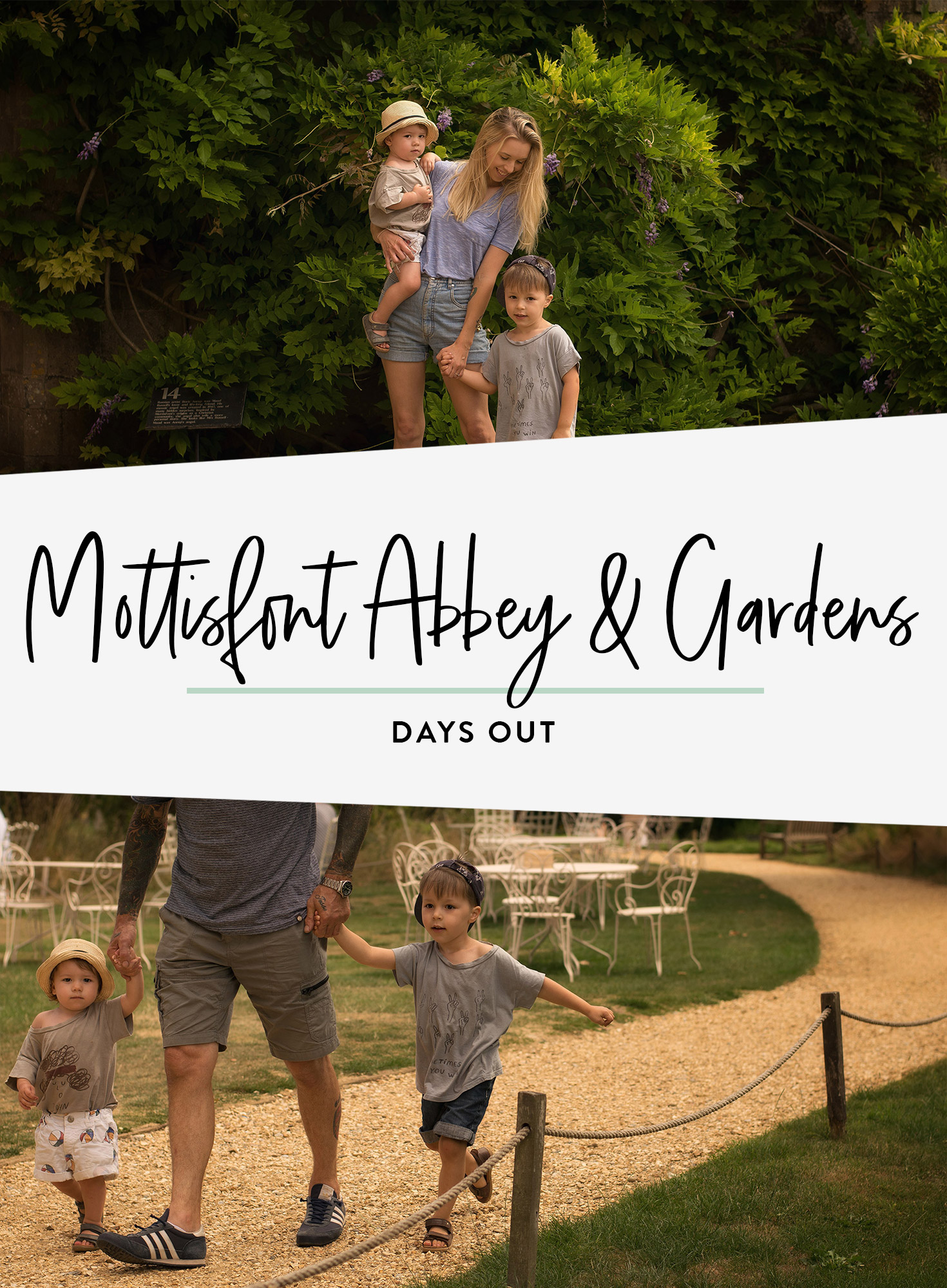 A family fay out at Mottisfont Abbey & Gardens, National Trust in Hampshire