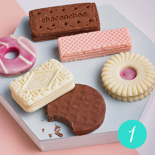 Biscuit Shaped Chocolates Set