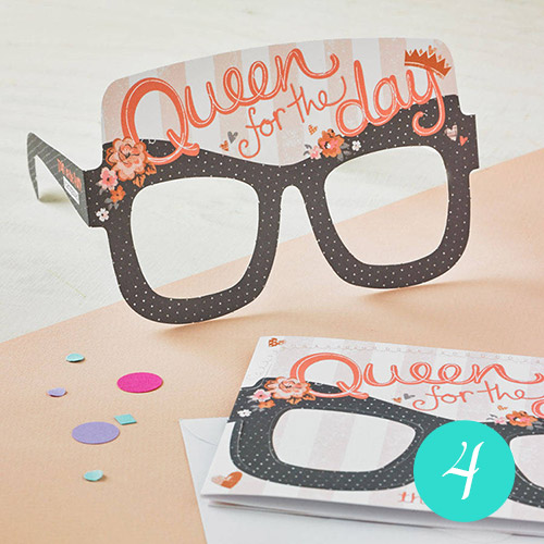 Mother's Day 'Queen For The Day' Card Glasses