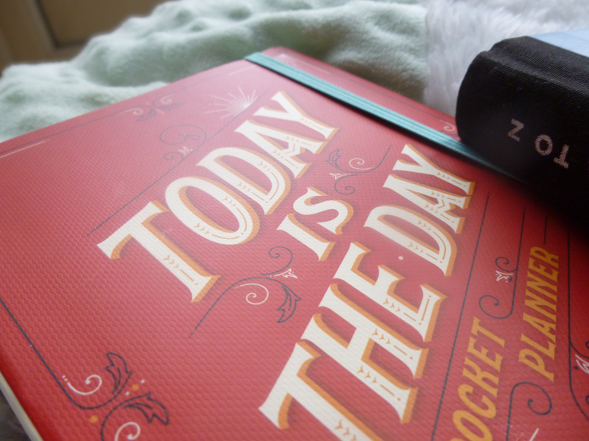 Today is the day organiser and pocket planner illustrated by Jessica Hische
