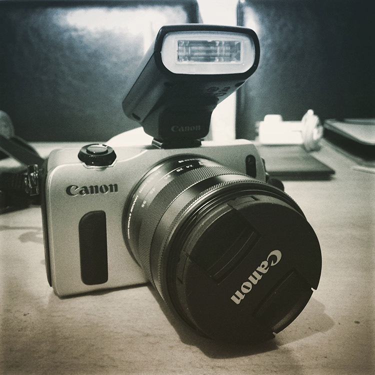 Canon EOS M CSC camera in silver grey
