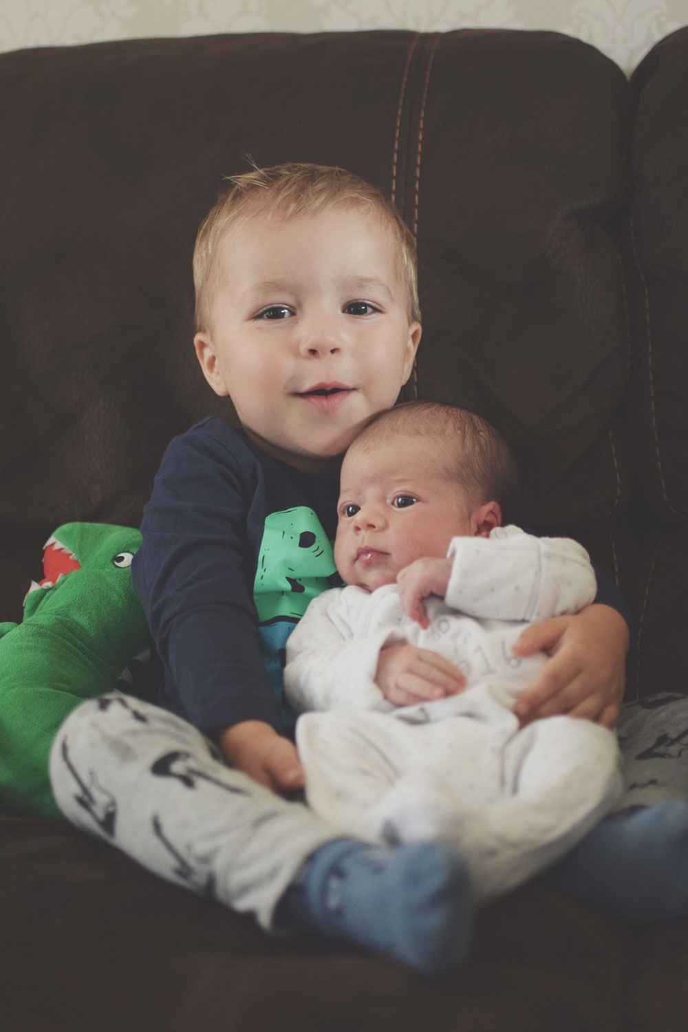 Meeting Blue — The Ordinary Moments #12; 2.5 year old toddler with his newborn baby brother