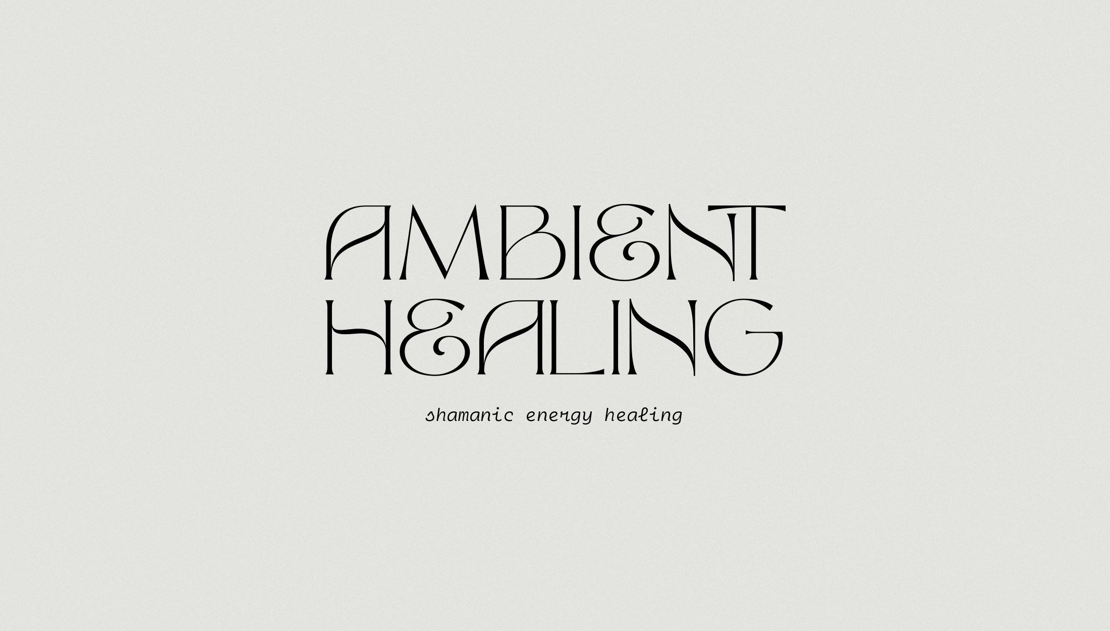 Logo design for Ambient Healing, shamanic energy healing bringing a calm and balanced shakra to negate the stress of our daily lives and offering the tools we need to promote a positive state of mind - designed by Wiltshire-based graphic designer, Kaye Huett