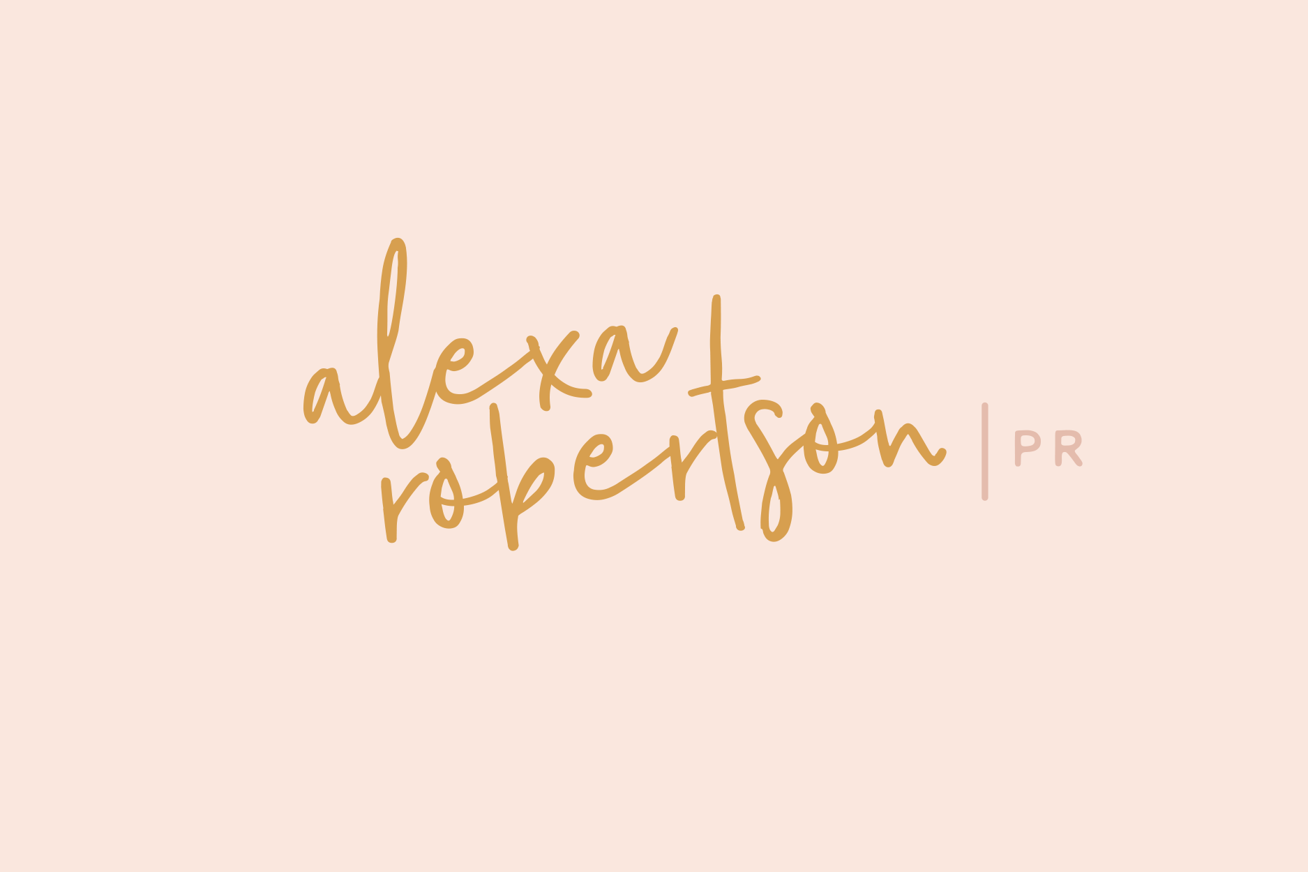 Final logo design for Alexa Robertson, freelance PR specialising in the classical music industry  - Designed by Wiltshire-based graphic designer, Kaye Huett