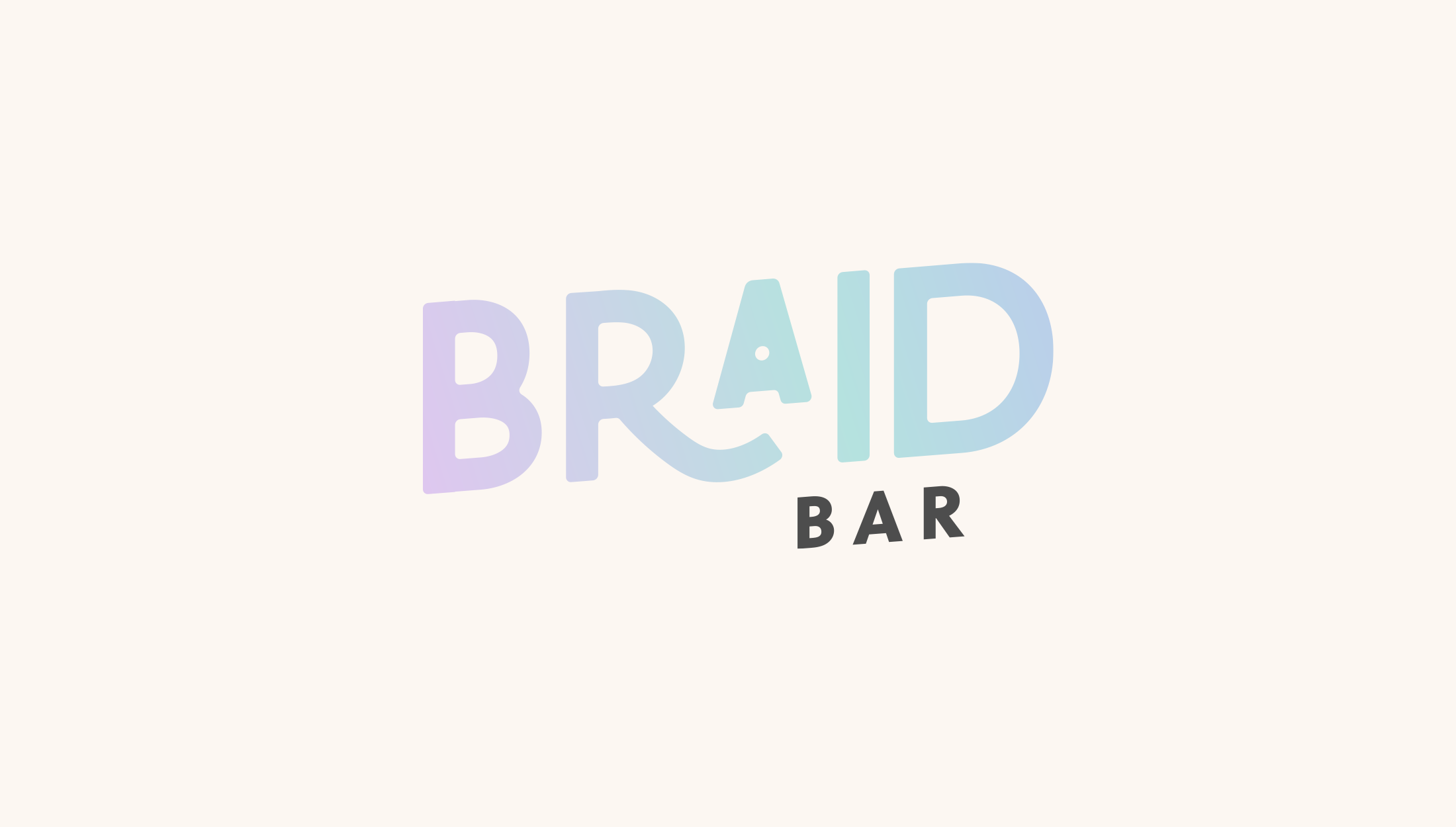 Logo design for Braid Bar, providing a premium experience and high-quality braiding services - designed by Wiltshire-based graphic designer, Kaye Huett