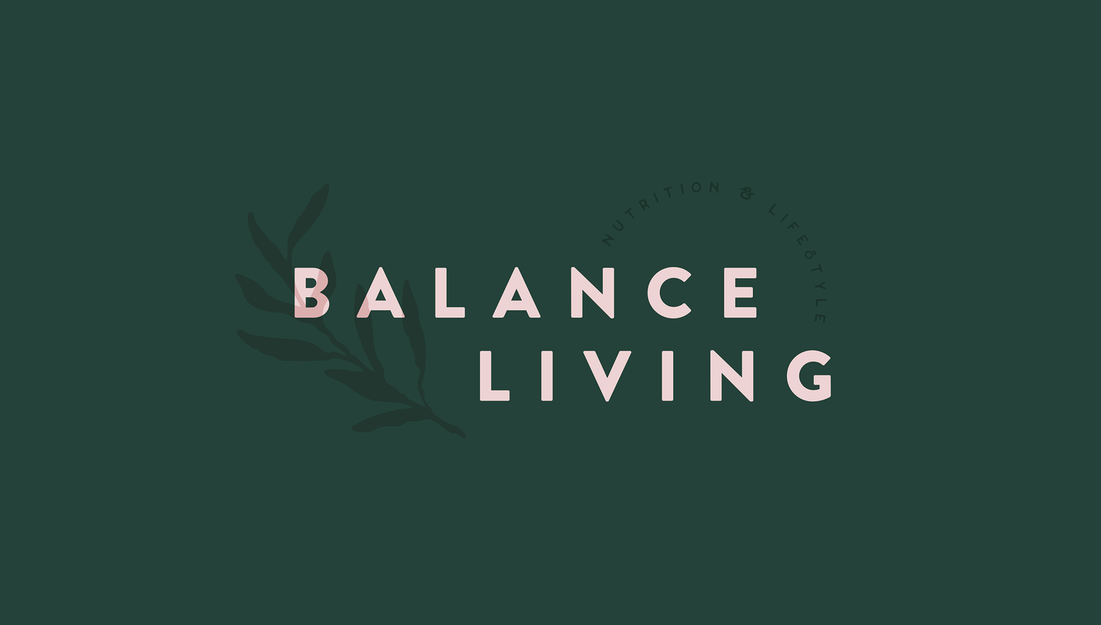 Final logo design for Balance Living, nutrition and lifestyle coaching - designed by Wiltshire-based graphic designer, Kaye Huett