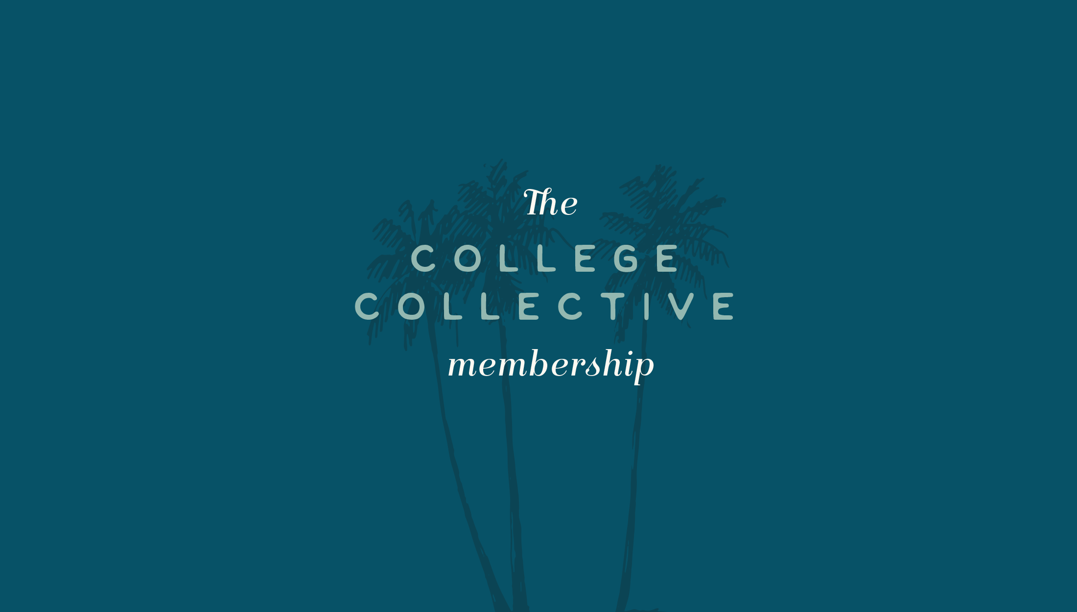 Alternative logomark for College Collective, The College Collective membership gives students a step-by-step plan for applying to college with the support of a community full of other educational professionals and peers - designed by Wiltshire-based graphic designer, Kaye Huett