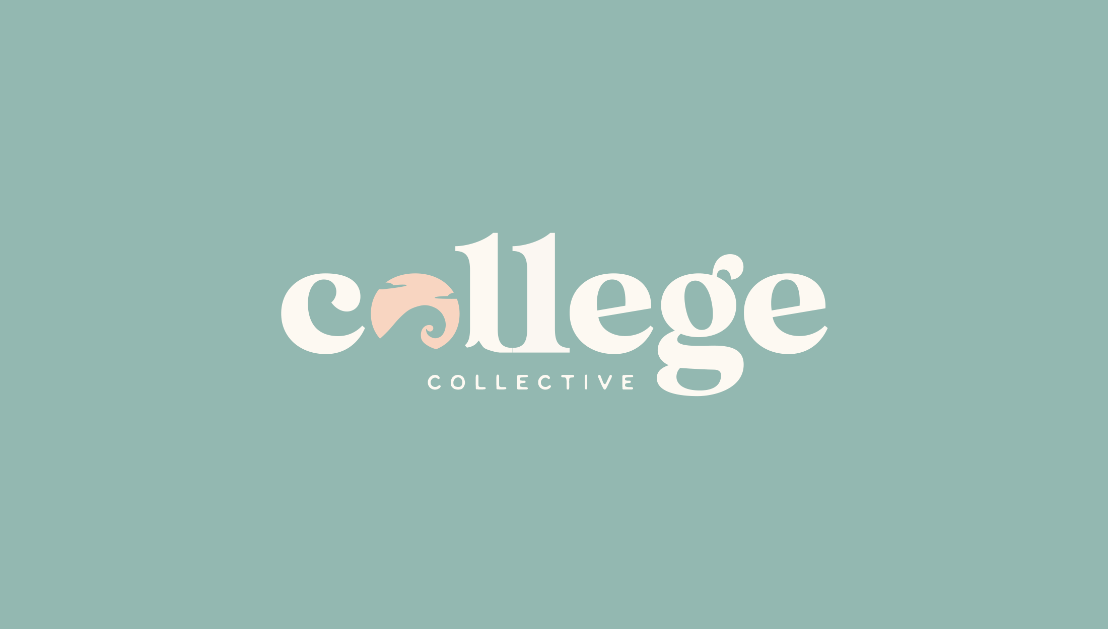 Alternative full logo design for College Collective, The College Collective membership gives students a step-by-step plan for applying to college with the support of a community full of other educational professionals and peers - designed by Wiltshire-based graphic designer, Kaye Huett