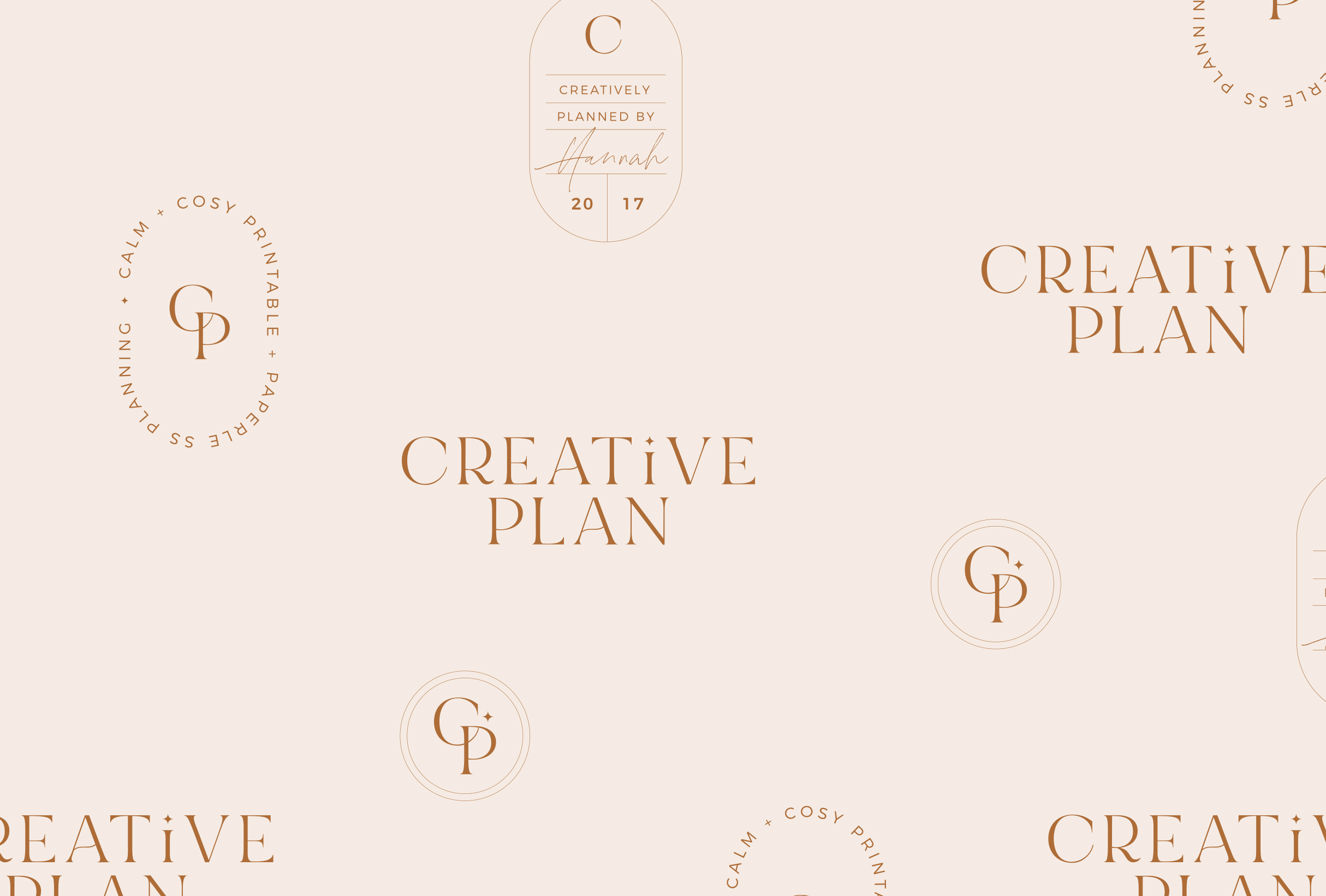 Logo design pattern for Creative Plan, providing paperless planning products with an analogue feel - designed by Wiltshire-based graphic designer, Kaye Huett