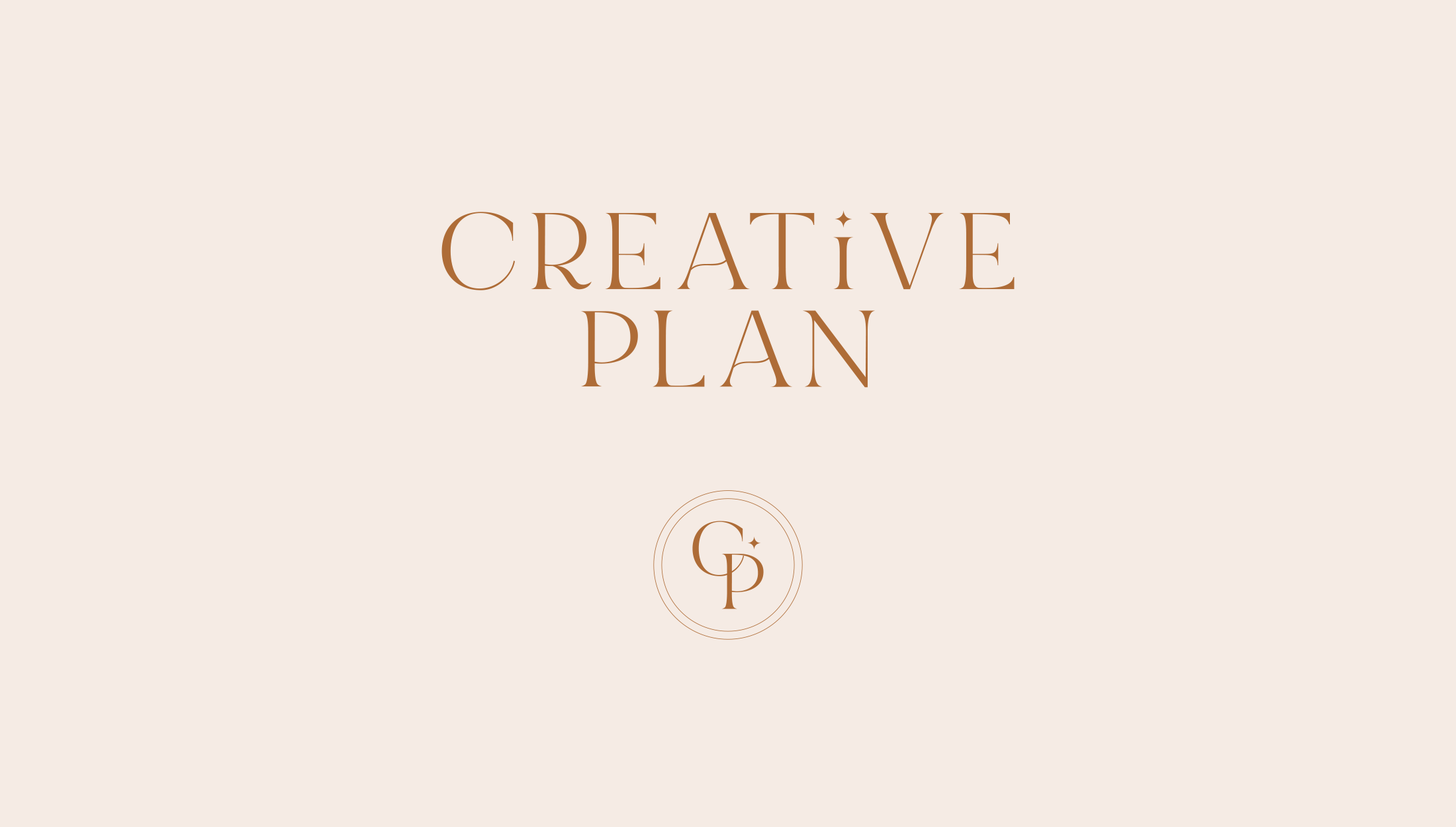 Logo design for Creative Plan, providing paperless planning products with an analogue feel - designed by Wiltshire-based graphic designer, Kaye Huett