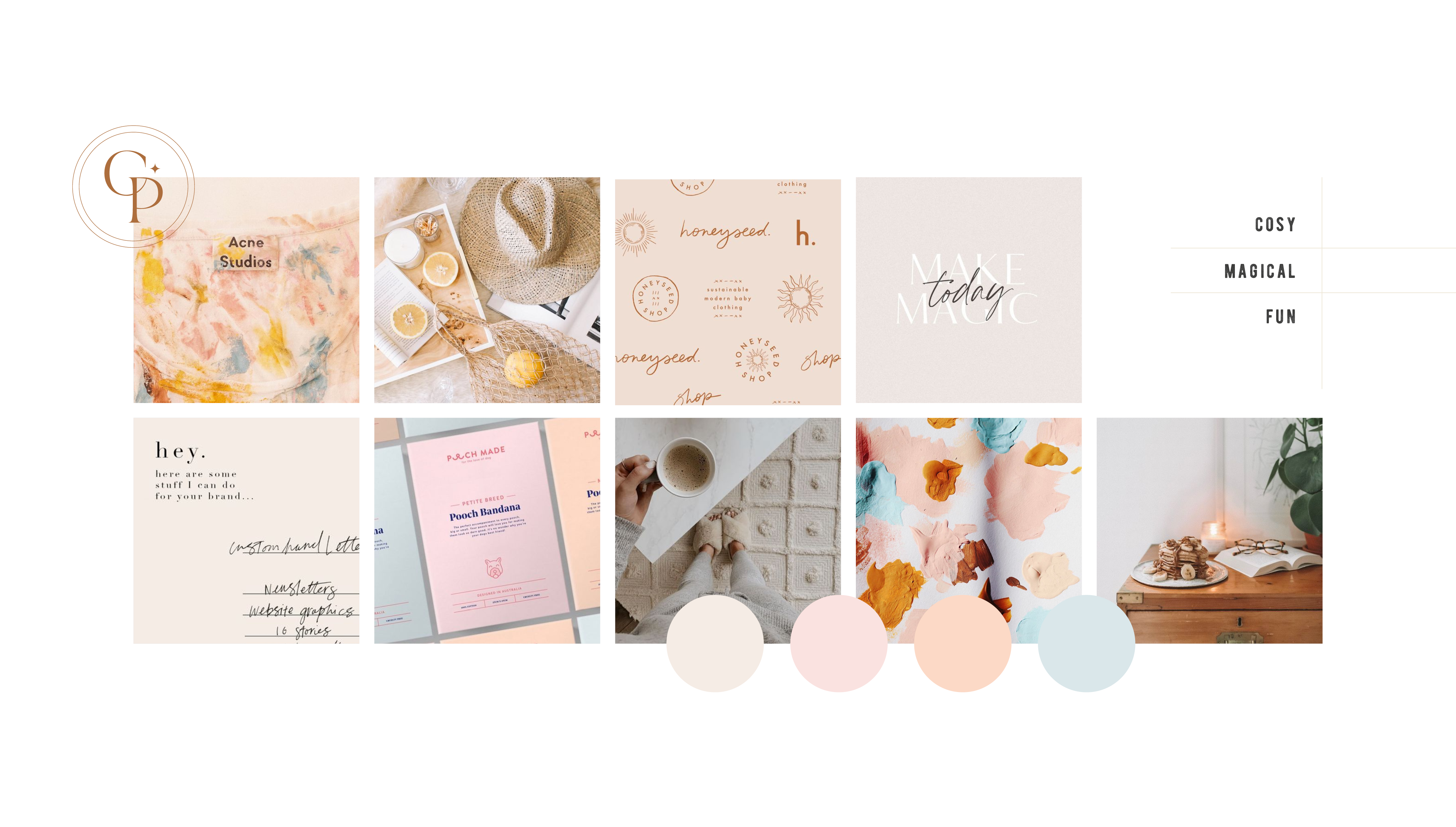 Moodboard for Creative Plan, providing paperless planning products with an analogue feel - designed by Wiltshire-based graphic designer, Kaye Huett