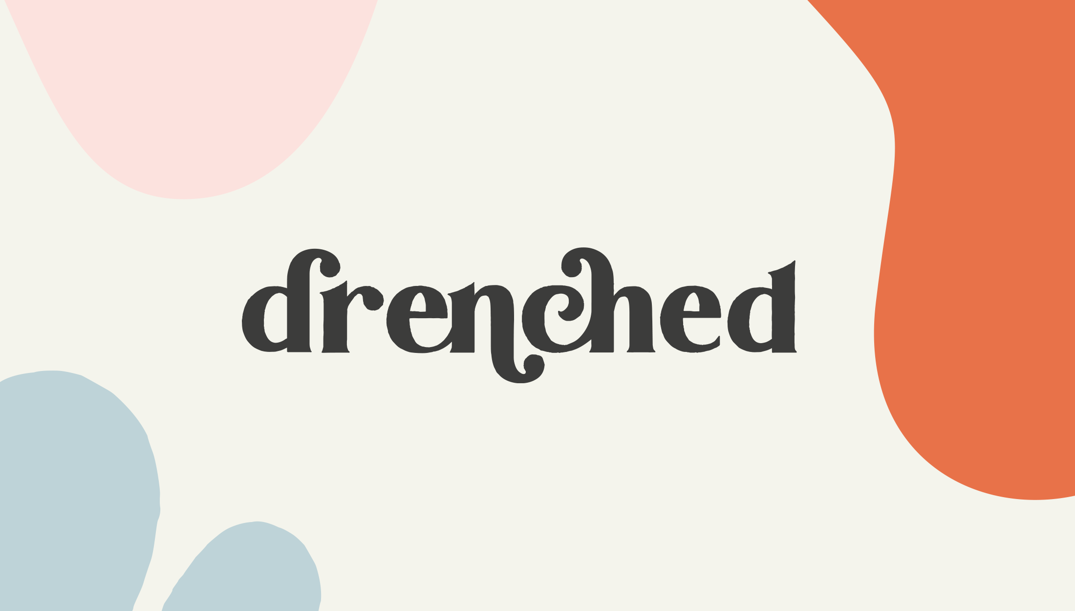 Alternative logo design for Drenched, selling luxury products that are essential for water-based needs - designed by Wiltshire-based graphic designer, Kaye Huett